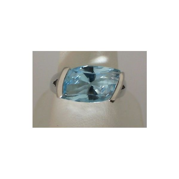 STERLING SILVER BLUE TOPAZ RING Erickson Jewelers Iron Mountain, MI