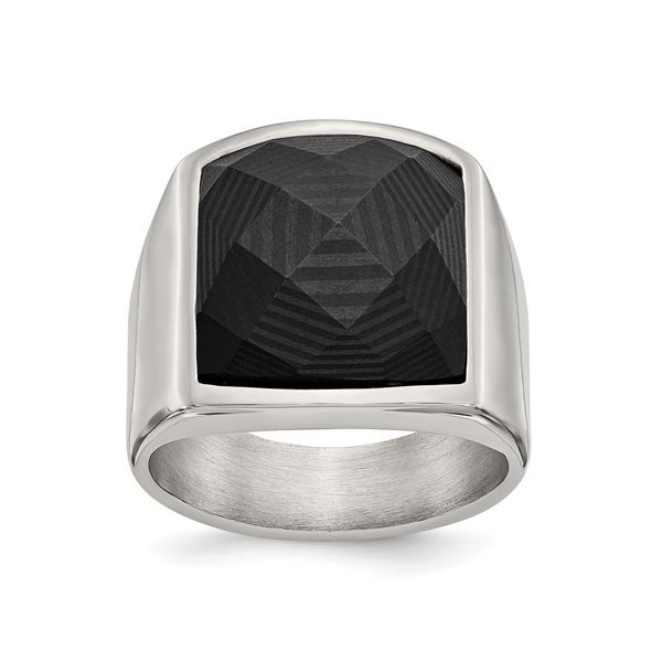 MENS BLACK CARBON FIBER RING Erickson Jewelers Iron Mountain, MI