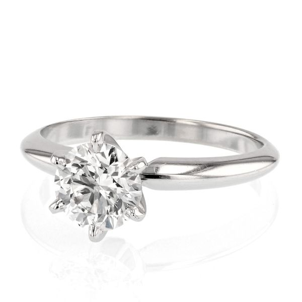 One Carat Solitaire Diamond Ring Image 2 Fox Fine Jewelry Ventura, CA