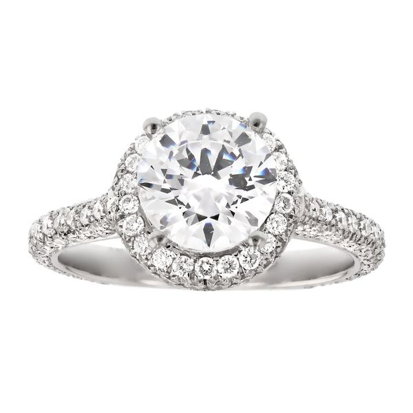 Platinum Diamond Halo Engagement Ring Fox Fine Jewelry Ventura, CA