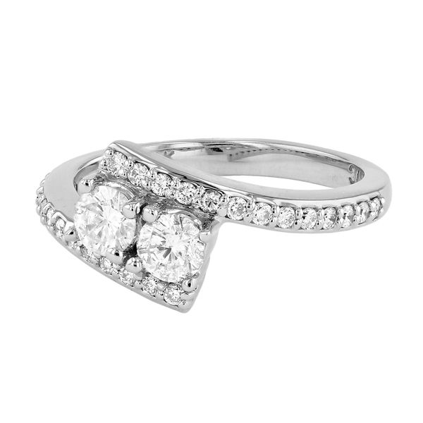 Bypass Two Stone Diamond Engagement Ring Image 2 Fox Fine Jewelry Ventura, CA