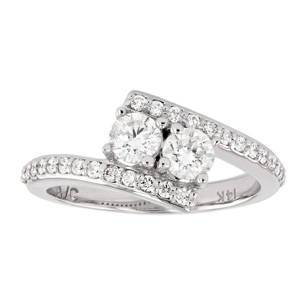 Bypass Two Stone Diamond Engagement Ring Fox Fine Jewelry Ventura, CA