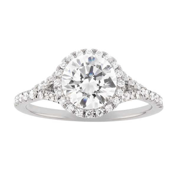 Split Shank Diamond Halo Engagement Ring Fox Fine Jewelry Ventura, CA