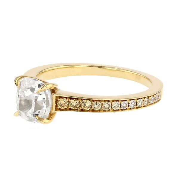 Graduated Yellow Diamond Engagement Ring Image 2 Fox Fine Jewelry Ventura, CA