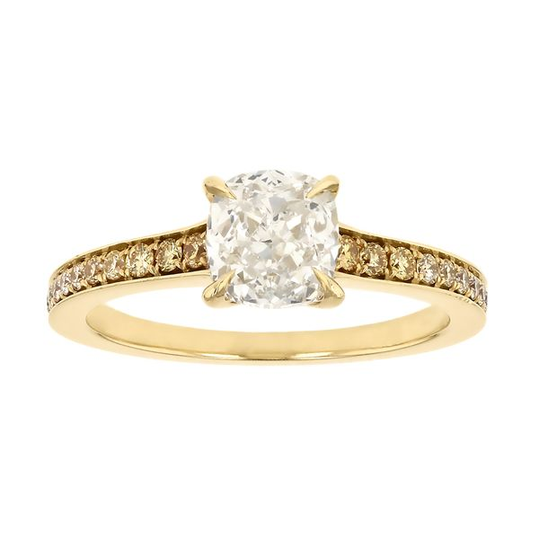 Graduated Yellow Diamond Engagement Ring Fox Fine Jewelry Ventura, CA