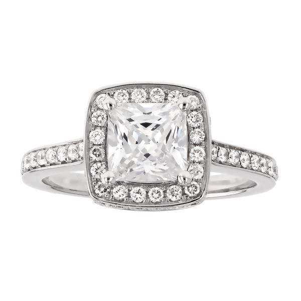 Square Halo Diamond Engagement Ring Fox Fine Jewelry Ventura, CA