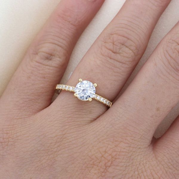 Classic Yellow Gold Surprise Diamond Ring Image 3 Fox Fine Jewelry Ventura, CA