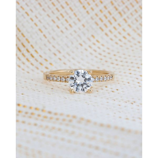 Classic Yellow Gold Surprise Diamond Ring Image 4 Fox Fine Jewelry Ventura, CA