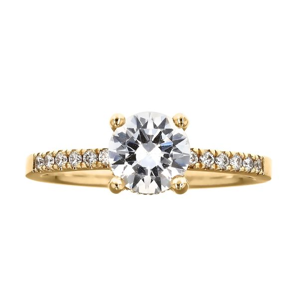 Classic Yellow Gold Surprise Diamond Ring Fox Fine Jewelry Ventura, CA