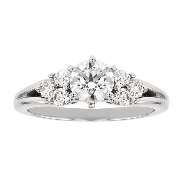 Side Cluster Diamond Engagement Ring Fox Fine Jewelry Ventura, CA
