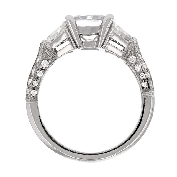 Platinum Princess Cut Diamond Ring Image 3 Fox Fine Jewelry Ventura, CA