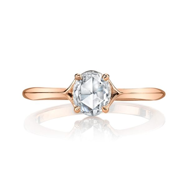 Rose Cut Oval Solitaire Engagement Ring Image 2 Fox Fine Jewelry Ventura, CA