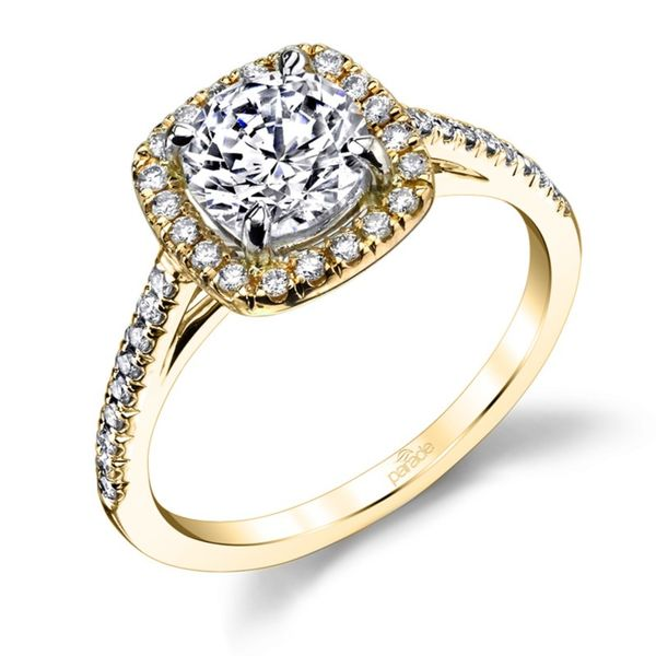 Cushion Halo Diamond Engagement Ring Image 2 Fox Fine Jewelry Ventura, CA