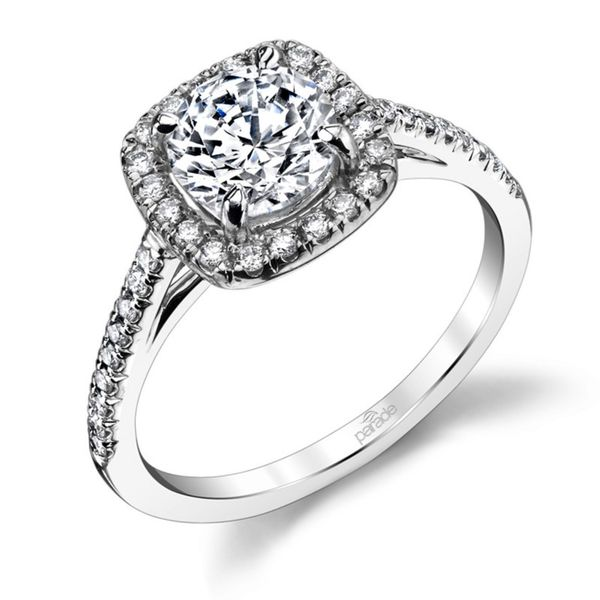 Cushion Halo Diamond Engagement Ring Image 3 Fox Fine Jewelry Ventura, CA