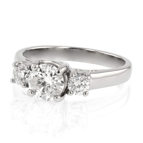 Classic 3 Stone Diamond Engagement Ring Image 2 Fox Fine Jewelry Ventura, CA
