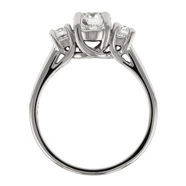 Classic 3 Stone Diamond Engagement Ring Image 3 Fox Fine Jewelry Ventura, CA