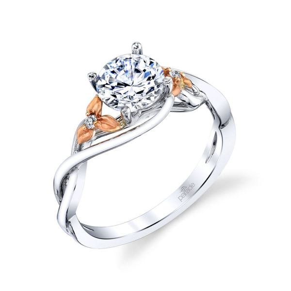 Two Tone Floral Diamond Engagement Ring Fox Fine Jewelry Ventura, CA