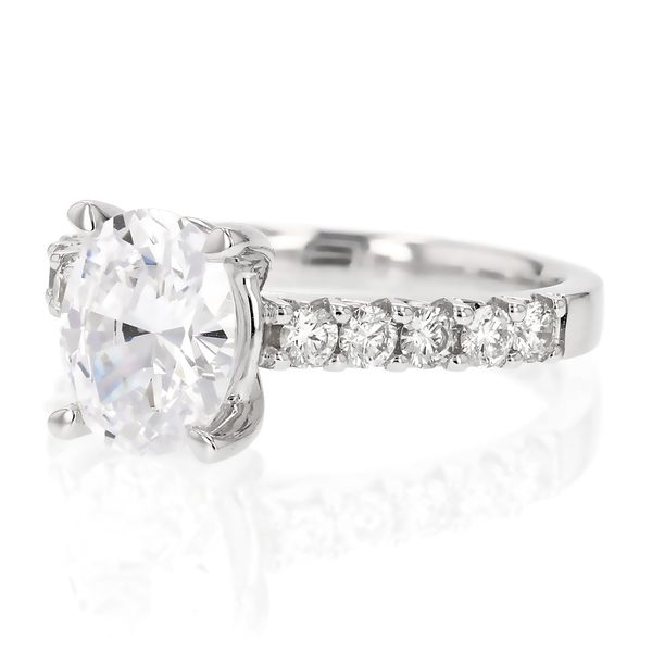 Classic Oval Diamond Engagement Ring Image 2 Fox Fine Jewelry Ventura, CA