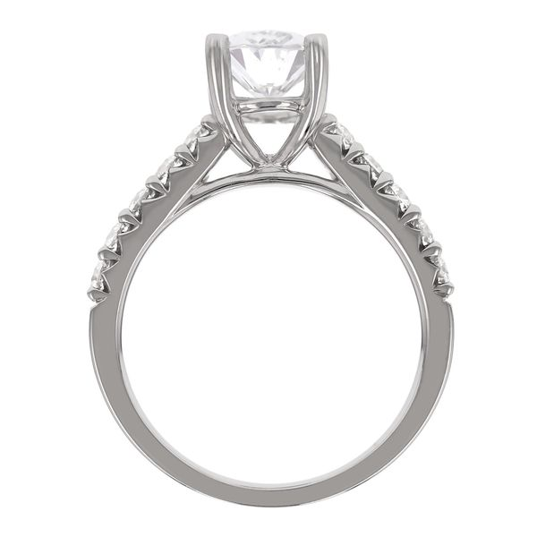 Classic Oval Diamond Engagement Ring Image 3 Fox Fine Jewelry Ventura, CA