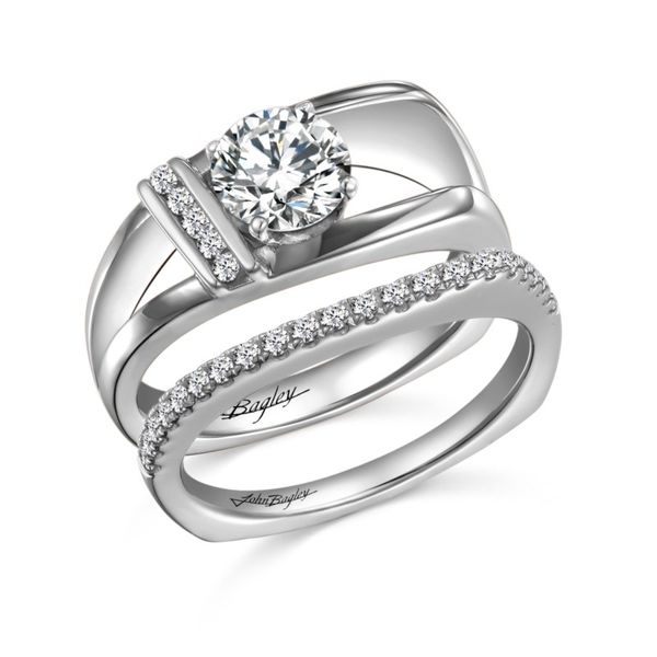 Asymmetrical Euro Shank Diamond Engagement Ring Image 2 Fox Fine Jewelry Ventura, CA
