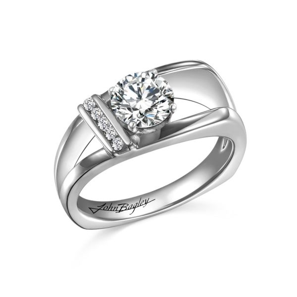 Asymmetrical Euro Shank Diamond Engagement Ring Fox Fine Jewelry Ventura, CA