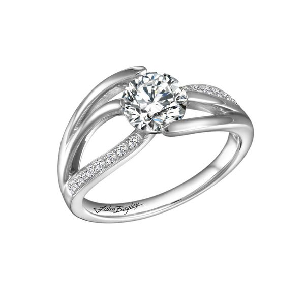 Dynamic Two Tone Diamond Engagement Ring Image 3 Fox Fine Jewelry Ventura, CA