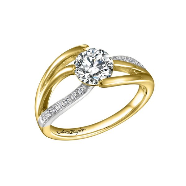 Dynamic Two Tone Diamond Engagement Ring Image 4 Fox Fine Jewelry Ventura, CA