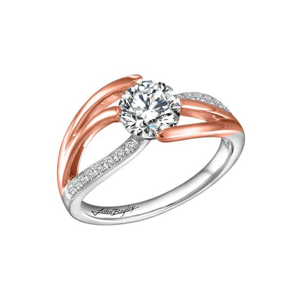 Dynamic Two Tone Diamond Engagement Ring Image 5 Fox Fine Jewelry Ventura, CA