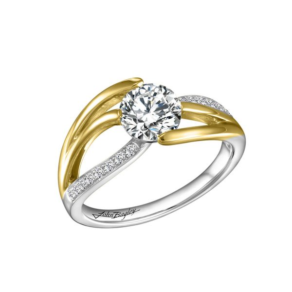 Dynamic Two Tone Diamond Engagement Ring Fox Fine Jewelry Ventura, CA