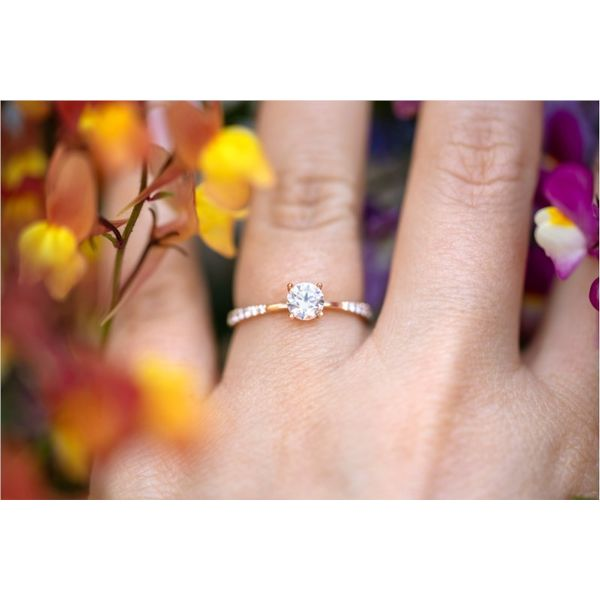 Spaced Side Diamond Engagement Ring Image 3 Fox Fine Jewelry Ventura, CA