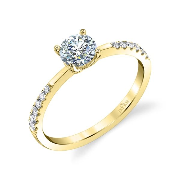 Spaced Side Diamond Engagement Ring Image 4 Fox Fine Jewelry Ventura, CA