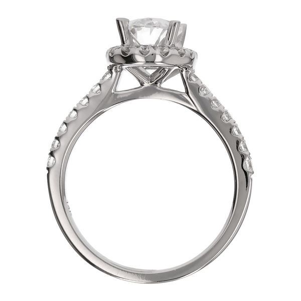 Oval Diamond Halo Engagement Ring Image 3 Fox Fine Jewelry Ventura, CA