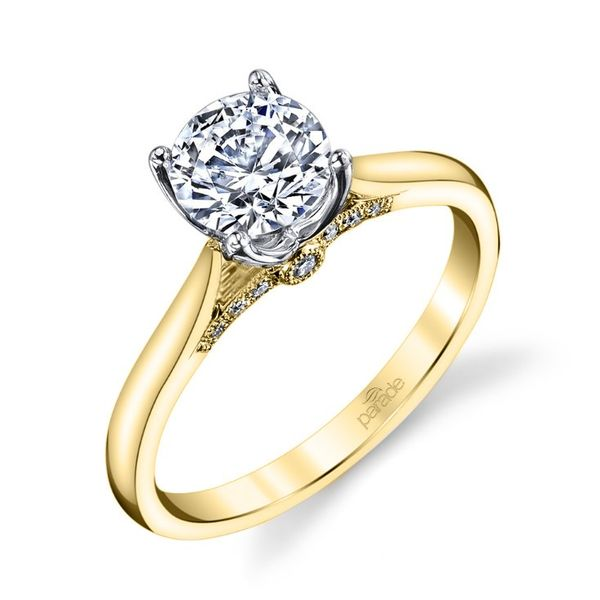 Surprise Diamond Solitaire Engagement Ring Image 4 Fox Fine Jewelry Ventura, CA