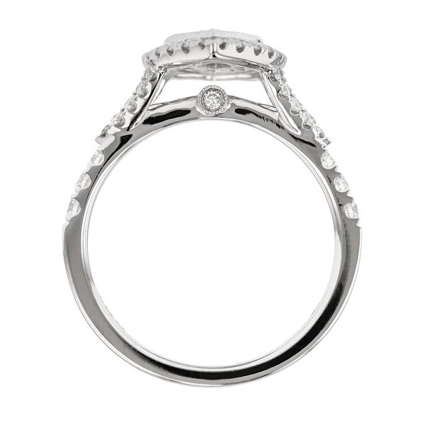 Marquis Diamond Double Halo Engagement Ring Image 3 Fox Fine Jewelry Ventura, CA