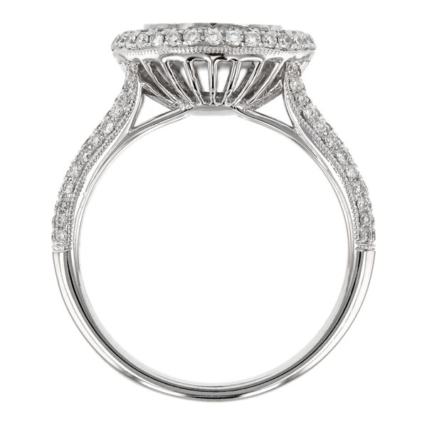 Pear Diamond Double Halo Engagement Ring Image 3 Fox Fine Jewelry Ventura, CA