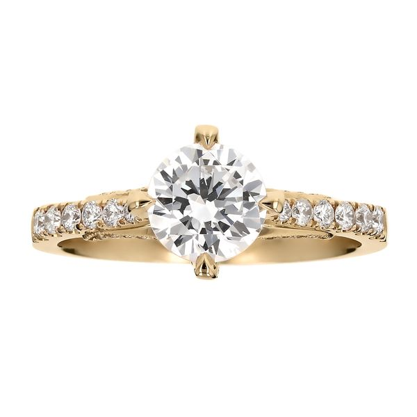 Yellow Gold Diamond Prong Engagement Ring Fox Fine Jewelry Ventura, CA