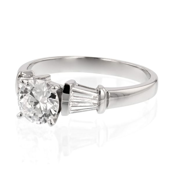 Tapered Baguette Diamond Engagement Ring Image 2 Fox Fine Jewelry Ventura, CA
