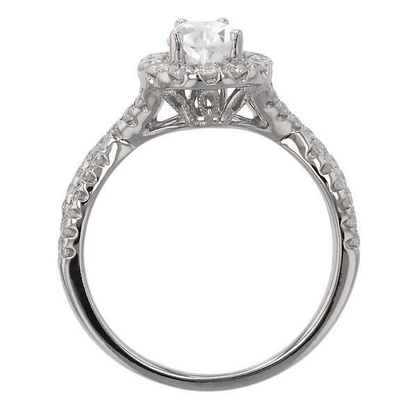 Twist Pear Halo Diamond Engagement Ring Image 3 Fox Fine Jewelry Ventura, CA