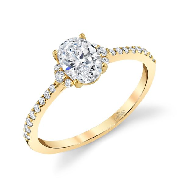Yellow Gold Oval Diamond Engagement Ring Fox Fine Jewelry Ventura, CA