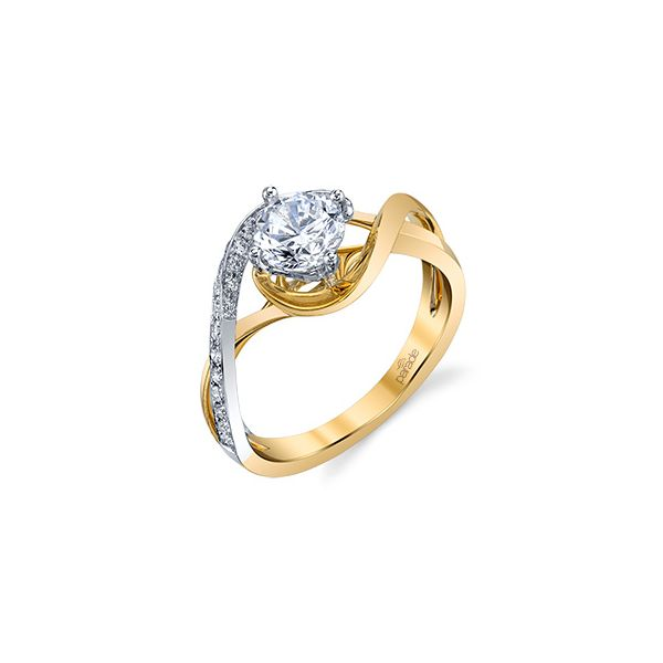 Two Tone Bypass Diamond Engagement Ring Image 2 Fox Fine Jewelry Ventura, CA