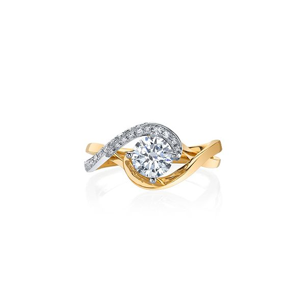 Two Tone Bypass Diamond Engagement Ring Fox Fine Jewelry Ventura, CA