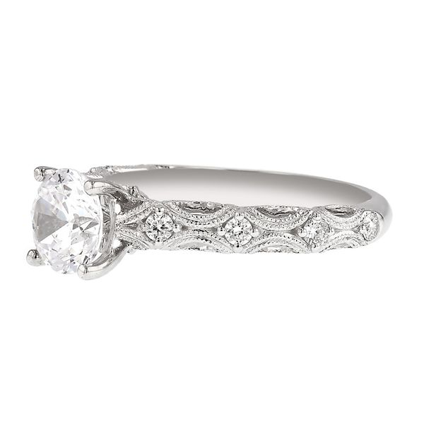 Filigree Diamond Engagement Ring Image 2 Fox Fine Jewelry Ventura, CA