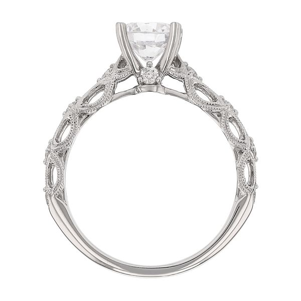 Filigree Diamond Engagement Ring Image 3 Fox Fine Jewelry Ventura, CA