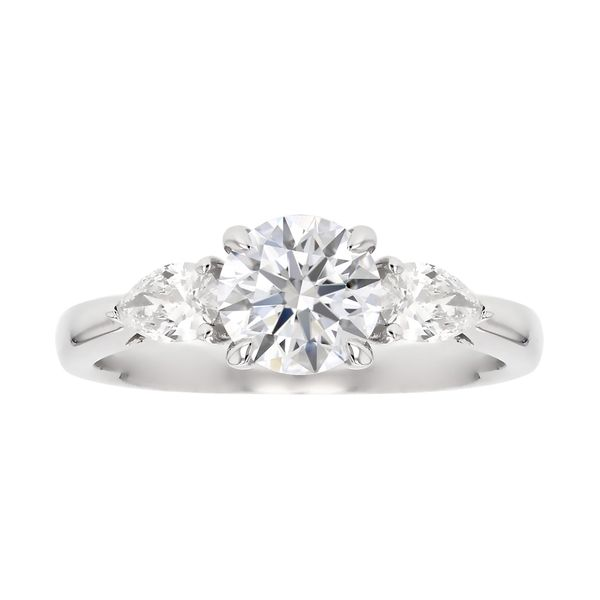 Three Stone Pear Diamond Engagement Ring Fox Fine Jewelry Ventura, CA