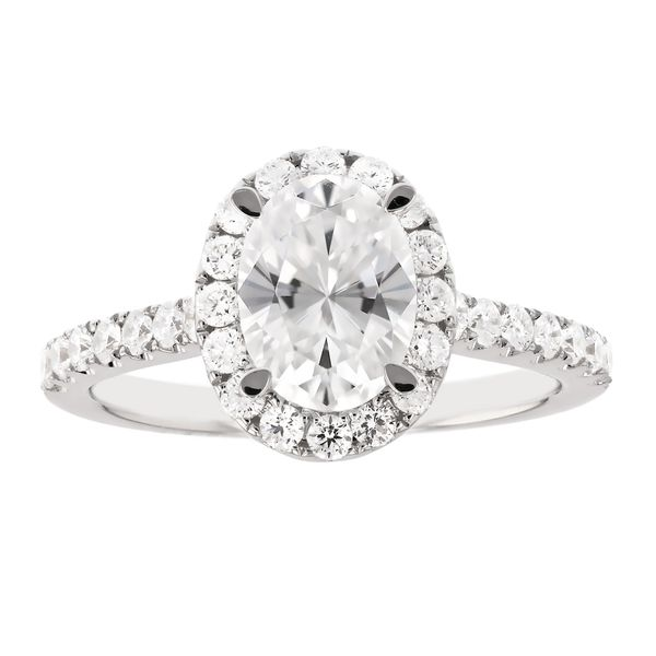 Oval Diamond Halo Engagement Ring Fox Fine Jewelry Ventura, CA