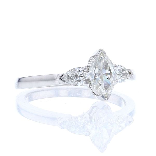 3 Stone Marquise Diamond Engagement Ring Image 2 Fox Fine Jewelry Ventura, CA