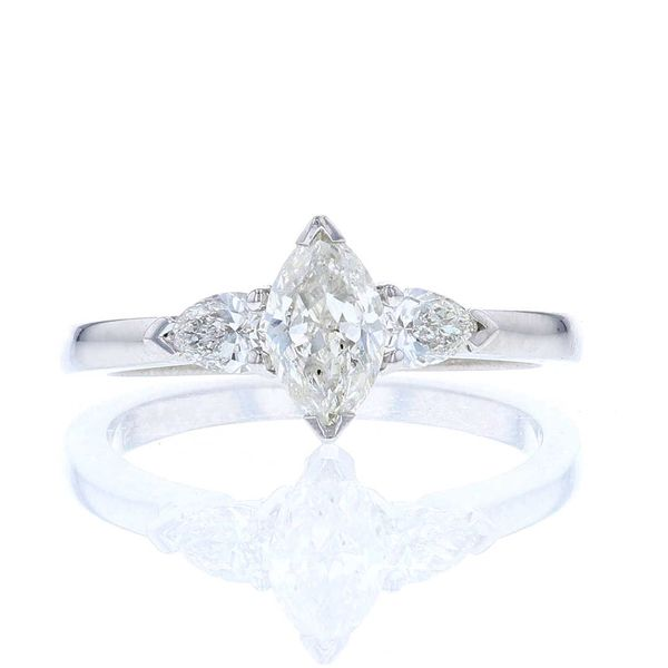 3 Stone Marquise Diamond Engagement Ring Fox Fine Jewelry Ventura, CA