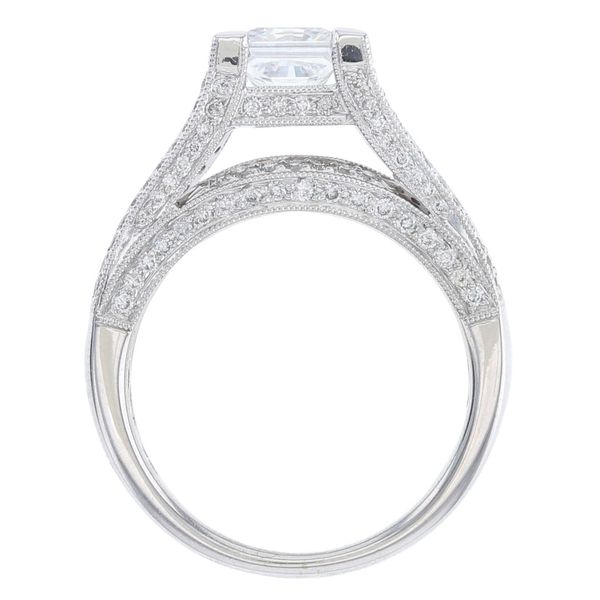 Baguette Side Diamond Engagement Ring Image 3 Fox Fine Jewelry Ventura, CA