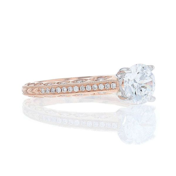 Rose Gold Diamond Peekaboo Engagement Ring Image 2 Fox Fine Jewelry Ventura, CA