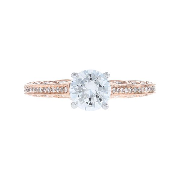 Rose Gold Diamond Peekaboo Engagement Ring Fox Fine Jewelry Ventura, CA